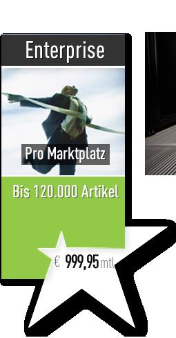 Starsellersworld Enterprise Tarif. mtl. 999,95€ pro Marktplatz, mit bis zu 120.000 Artikeln