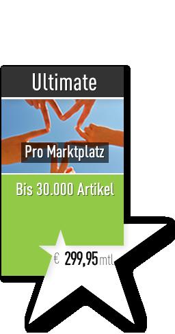 Starsellersworld Ultimate Tarif. mtl. 299,95€ pro Marktplatz, mit bis zu 30.000 Artikeln